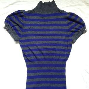 Express Mock turtlneck short puffy sleeve sweater